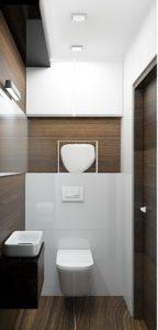 Wizualizacja toalety w stylu nowoczesnym