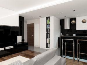 Wizualizacja projektu nowoczesnego mieszkania