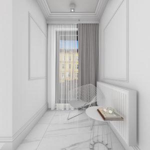 Fragment jasnego salonu w stylu nowoczesnym
